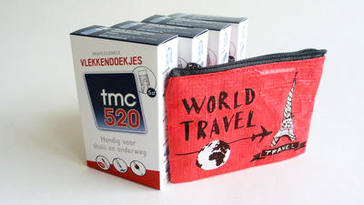 TMC 520 vlekkendoekjes met ETUI (set = 3x doosje/5st. en ETUI met /5st.)